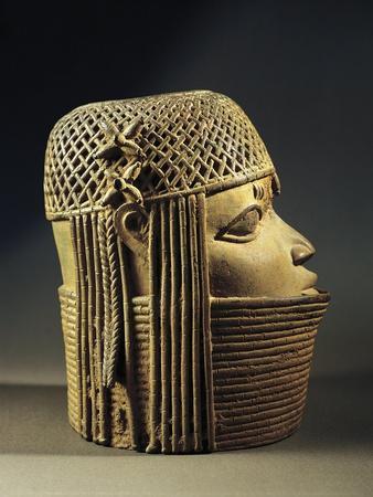 Bronze Sculpture of Female Head