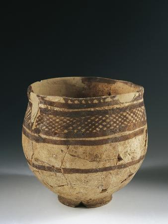 Bowl from the El Obeyd Period from Syria, Prehistoric Civilizations of Mesopotamia, Ca 4500 BC