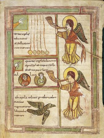 France, 9th Century, Abbey of Saint-Amand, Illuminated Apocalypse Latin Manuscript