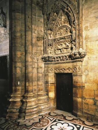 Italy, Milan Cathedral, Entrance to Southern Sacristy or Chapter House