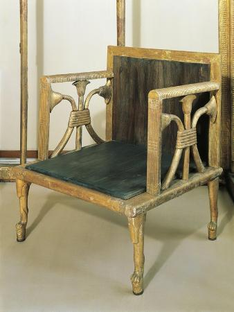 Funerary Gold Chair of Queen Hetepheres from Giza
