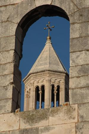 Croatia, Dalmatia, Split, Bell Tower of Cathedral of St Domnius