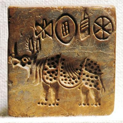 Pakistan, Mohenjo-Daro, Steatite Seal Depicting an Indian Rhinoceros