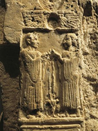 Throne of Goddess Astarte, Detail, Relief with Scene of Libation, from Byblos, Lebanon
