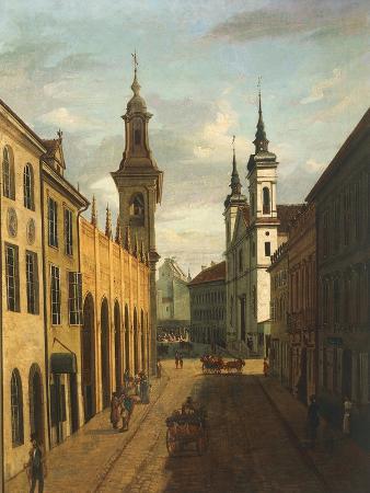 Poland, Warsaw, View of Freta Street in Warsaw