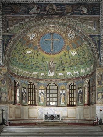 Italy, Emilia-Romagna, Ravenna, Basilica of Sant'Apollinare in Classe, Apsidal Basin
