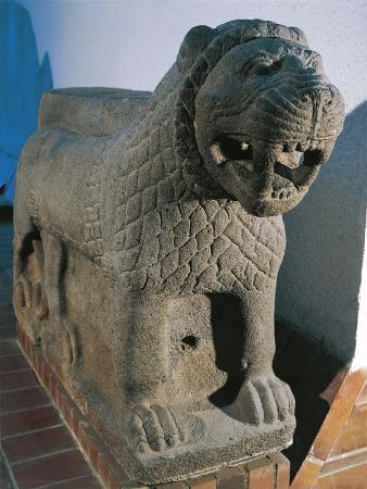 Turkey, Marash, Sculpture Representing a Lion Used to Decorate the Entrance of a Palace