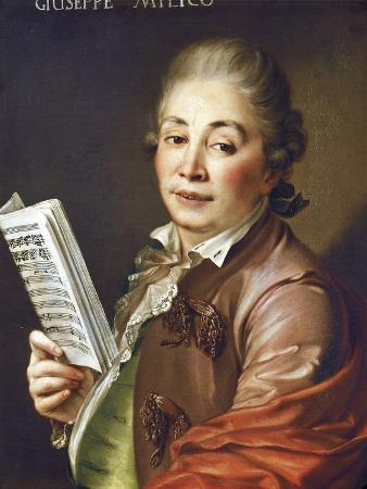 Italy, Bologna, Portrait of Castrato Singer, Composer and Music Teacher Giuseppe Millico