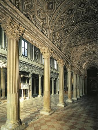Italy, Lombardy, Mantua, Catherdal of San Pietro, Interior, Side Aisle