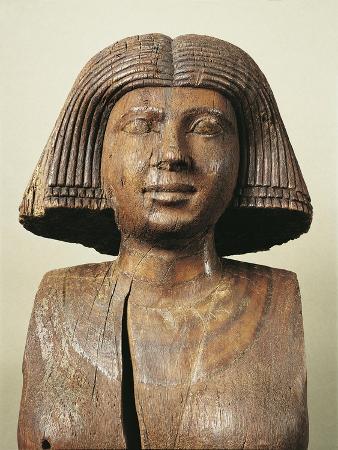 Statue Portraying Wife of Ka-Aper from Saqqara, Circa 2475 B.C.