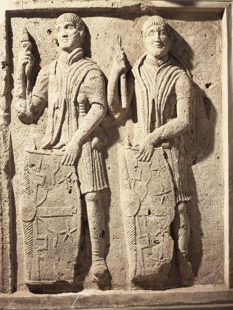 Relief with Figures of Soldiers, from Tralles, Turkey