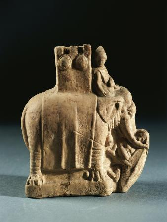Greece, Mirina, Statuette Representing an Elephant Used for Struggles, Terracotta