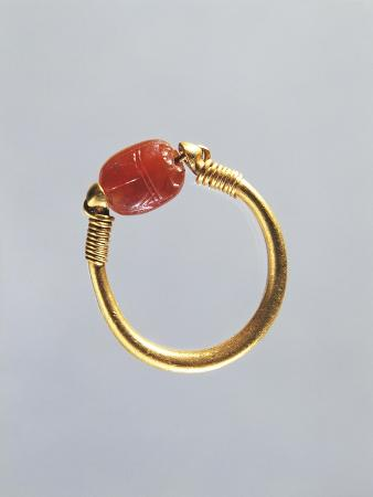 Gold Ring Depicting Scarab, Italy, Goldsmith Art, Magna Graecia