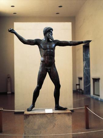 Greece, Athens, Poseidon, God of the Sea, Sculpture
