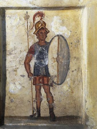 Painted Funerary Stele Depicting Soldier Salmanodes Fom Sidon, Lebanon