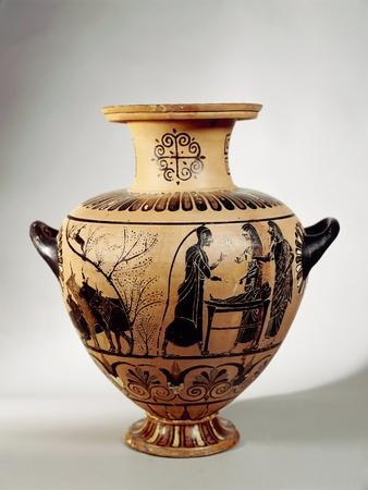 Black-Figure Pottery, Hydria Depicting Young Mercury's Theft of Apollo's Cattle