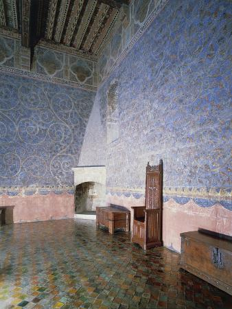 Popes' Room in Tower of Garde-Robe of Papal Palace , Avignon, France