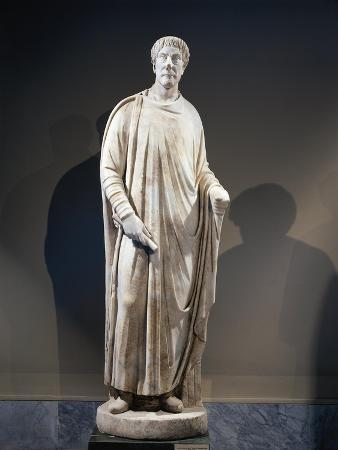 Marble Statue of Togaed Judge, 425-450 A.D., from Aphrodisias, Turkey