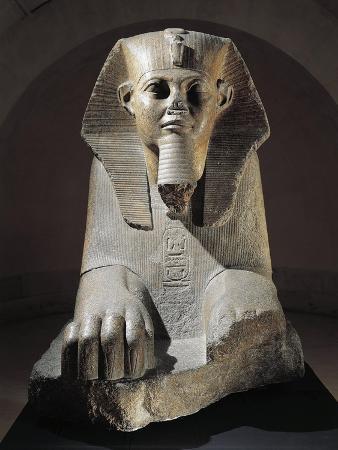 Pink Granite Great Sphinx from Tanis