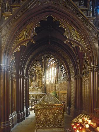 Chapel of Ossuary of Ste Genevieve, Church Saint-Etienne-Du-Mont, Paris, France