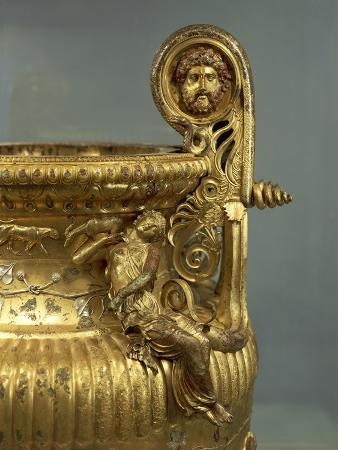 Gilded Bronze Cinerary Krater from Derveni, Greece