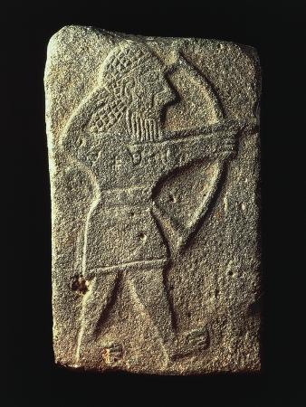 Archer Carved on Small Slab from Temple of Palace of Tell Halaf, Syria