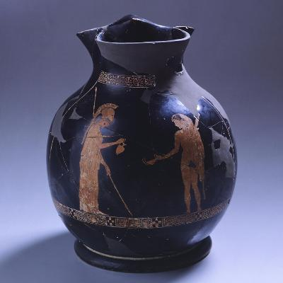 Attic Oinochoe, Red-Figure Pottery from Illyria, Albania, Mid-5th Century BC