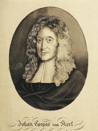 Austria, Engraved Portrait of German Composer and Organist, Johann Caspar Von Kerll