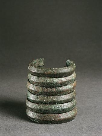 Italy, Liguria Region, Armlet Decorated with Geometric Patterns from Buco Del Diavolo