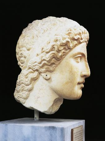 Greece, Argolis, Heraion of Argos Head of Hera, Attributed to the School of Polykleitos