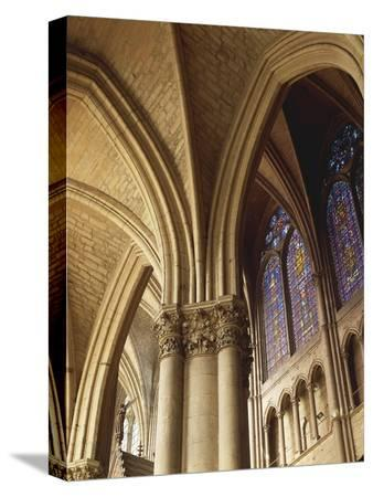 Gothic Vaults in Nave of Cathedral of Notre-Dame , Reims, France 13th Century