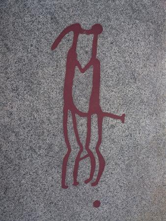 Engraving Representing Human Couple, Symbol of Fertility, Nordic Bronze Age Rock Carvings