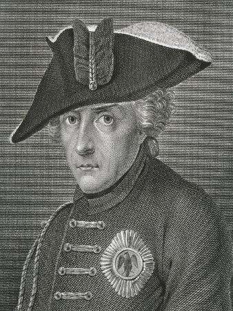 Germany, Vienna, Portrait of Emperor Frederick Ii of Prussia, known as Frederick the Great