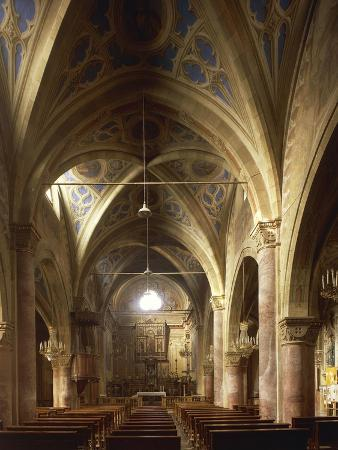 Inside Cathedral of St John Baptist, Cirie, Italy