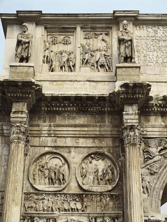 Italy, Latium Region, Rome, Imperial Fora, Arch of Constantine