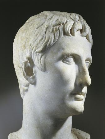 Turkey, Istanbul, Roman Art Head of Emperor Augustus