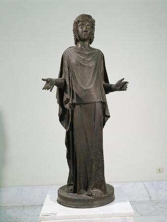 Bronze Statue of Young Girl Praying, from Ercolano, Italy