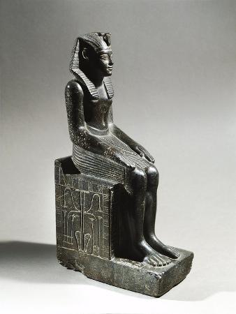 Statue of Pharaoh Neferhotep I. Microgabbro, from El Fayum