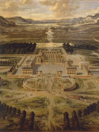 View of Versailles Palace and its Gardens, 1668