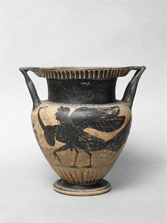 Etruscan Krater with Figures Portraying a Harpy