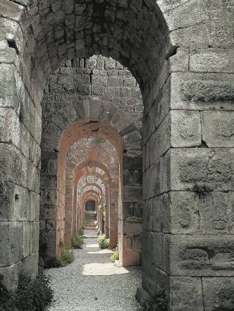 Turkey, Pergamum, Acropolis, Trajan's Temple, Underground Passage