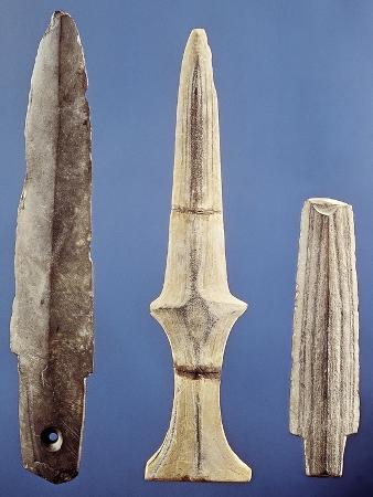 Polished Stone Daggers, Japan, Yayoi Period BC-3rd Century AD