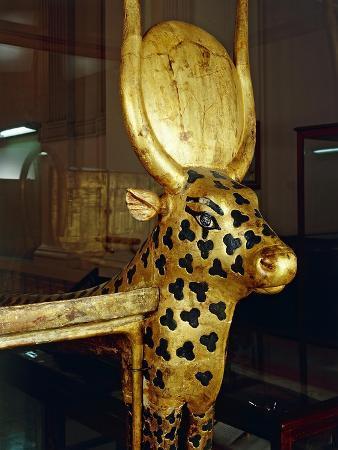 Treasure of Tutankhamen, Funerary Zoomorphic Bed, Sides Representing Mehetweret, the Cow Goddess