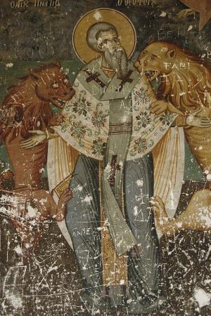 Frescoes, Exonarthex of Saint Nicholas Church