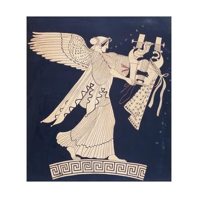 Winged Victory, Reproduction of Painting from Greek Vase, 5th Century BC