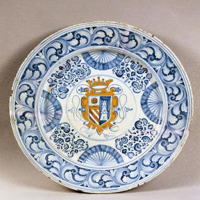 Celebration Plate Decorated with Coat of Arms