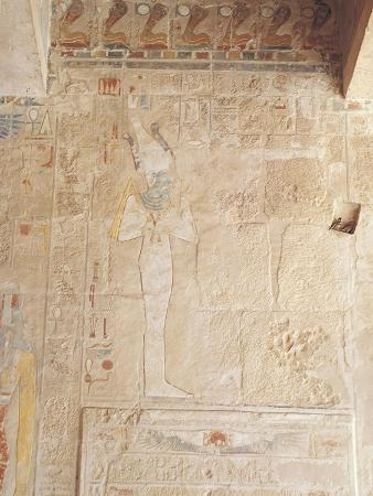 Egypt, Old Thebes, Luxor, Deir El-Bahri, Temple of Hatshepsut, Anubis Chapel