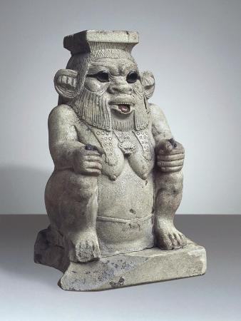 Ancient Egyptian Terracotta Figurine of God Bes
