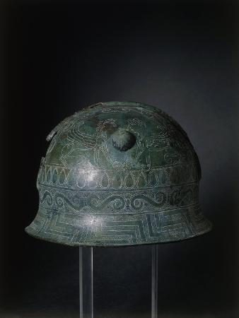Helmet with Carvings