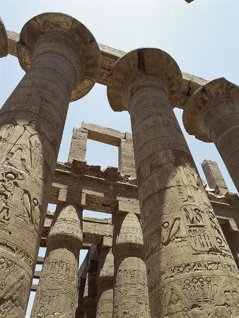 Pillars Covered with Reliefs